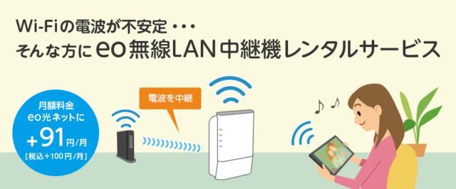 eo無線LAN中継器