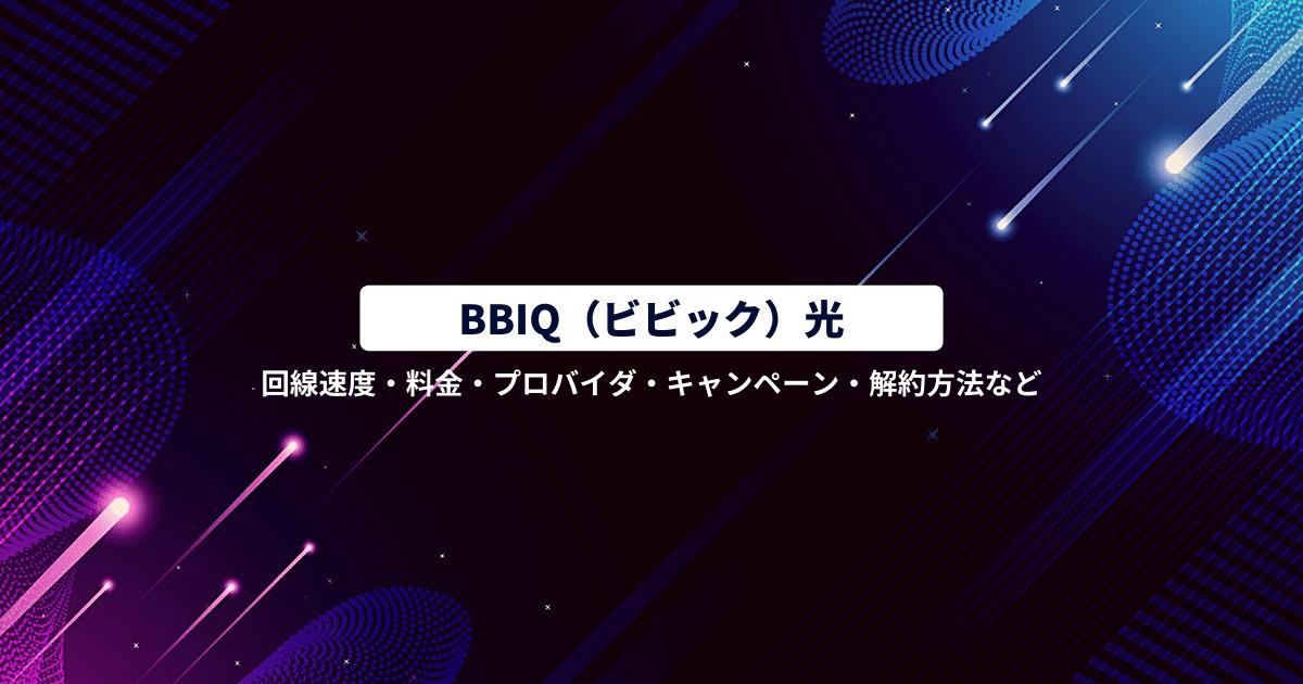 BBIQ光とは画像